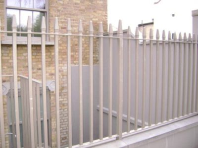 Mild Steel Railings London with Cast Iron Finials