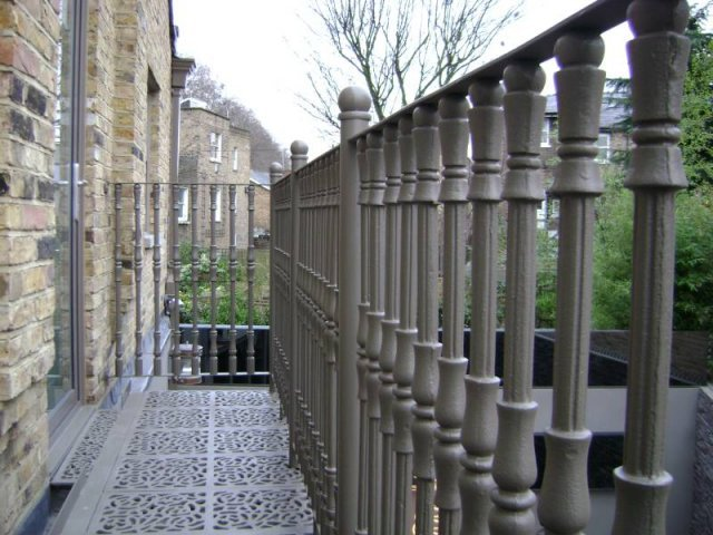 Cast Iron and Mild Steel Balcony London