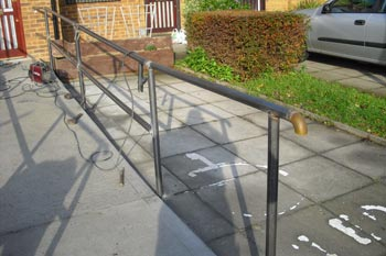Steel handrail London