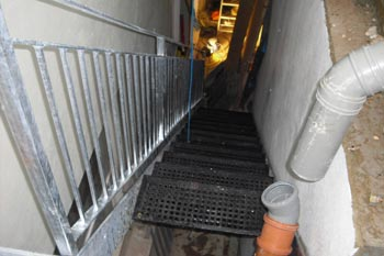 Galvanised Outdoor Steel Staircase & Landing in Kensington, London