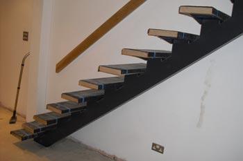 Steel Mono-Beam Stair Fabrication London - Arc Fabrications