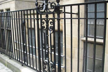 Cast Iron Railings in Lincoln's Inn, London