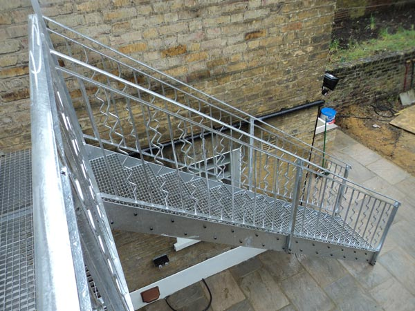Awesome Outdoor Steel Staircase London