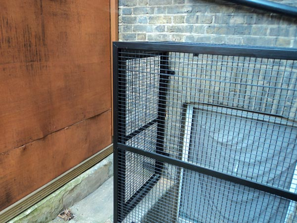 Steel Security Window Cage London - Access Door