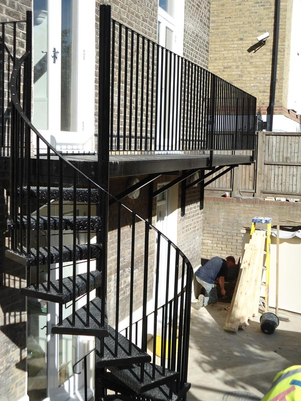 Steel Spiral Staircase Amp Balcony Landing Fabrication