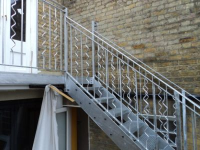 Steel Staircase & Balcony