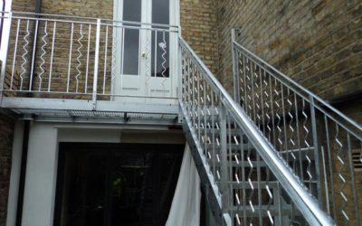 Outdoor Steel Staircase & Balcony London – Cecilia Road, Hackney