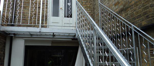 Steel Staircase & Balcony London
