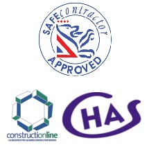 SAFEcontractor Approved – ConstructiOnline Approved – CHAS Approved