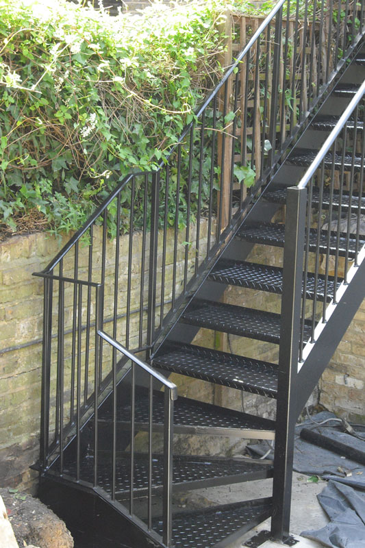 Beau Exterior Steel Staircase London