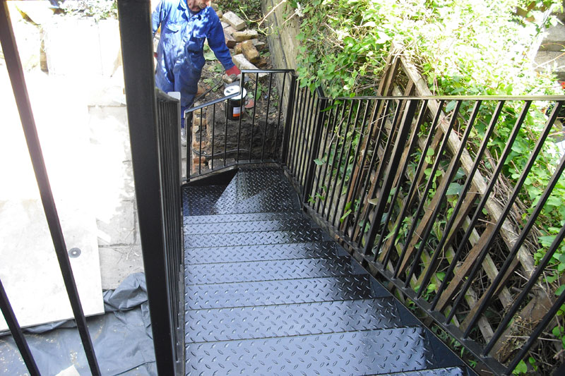 Outdoor Steel Staircase Fabrication London