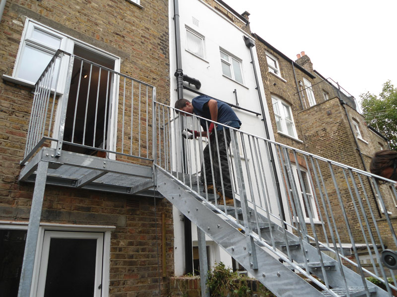 Outdoor Galvanised Steel Staircase London West Hampstead