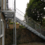 Outdoor Galvanised Steel Staircase London – West Hampstead