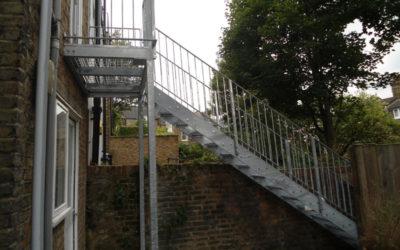 Outdoor Galvanised Steel Staircase London – West Hampstead