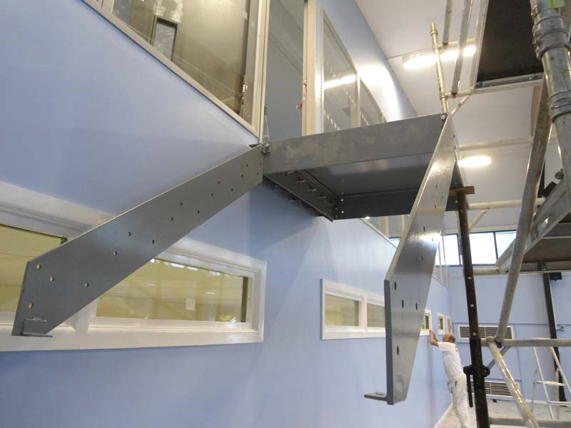 Steel Staircase and Landing Slough