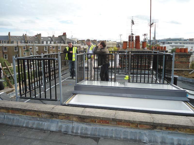 Steel Roof Terrace Railings Amp Architectural Steel In Maida