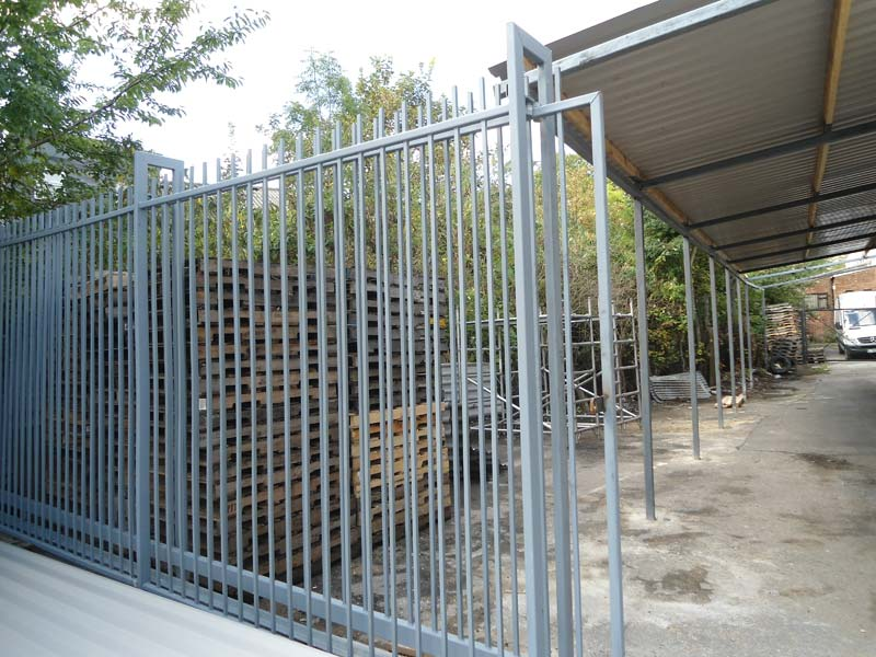 Steel Roof Shelter And Electric Sliding Gate For Wembley