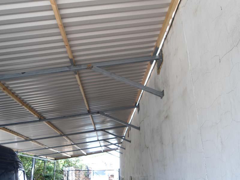 Aluminum Arc Shelters : Metal roof construction london arc fabrications