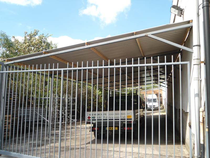 Aluminum Arc Shelters : Steel roof shelter wembley arc fabrications