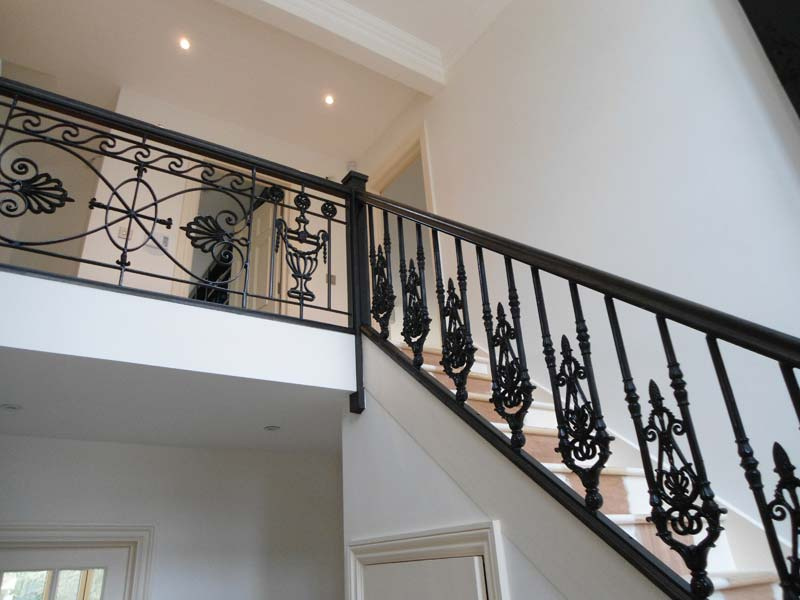 Cast Iron Staircase Railing Fabrication And Installation
