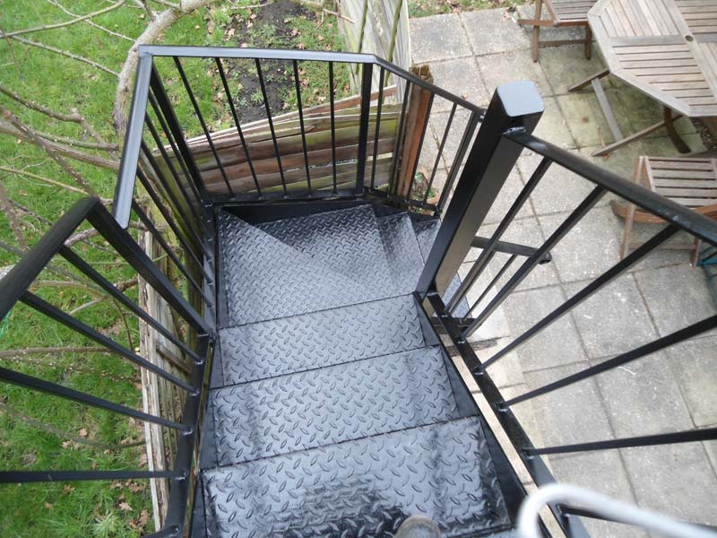 External Steel Staircase London