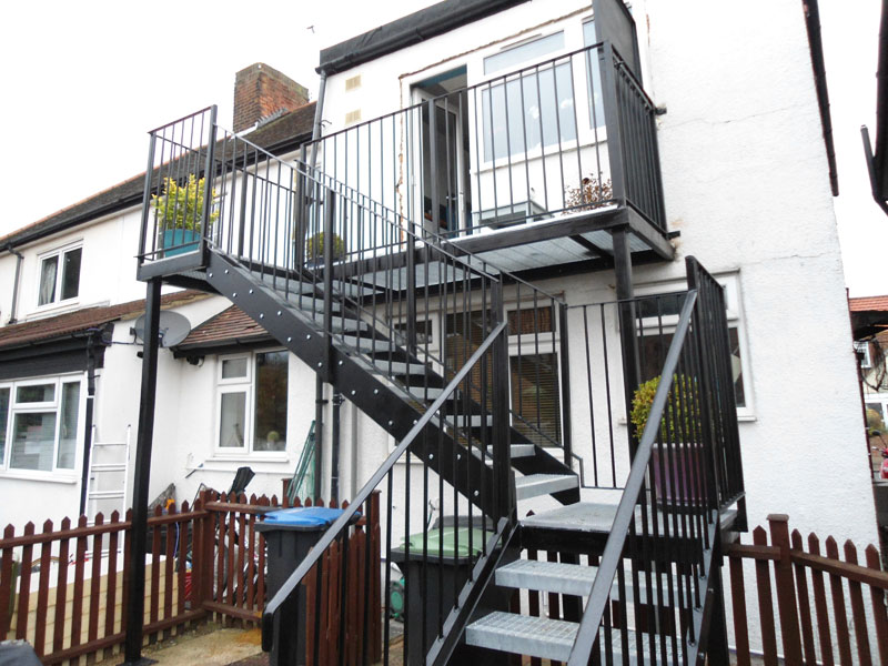 Steel Access Staircase Installation Edmonton, London