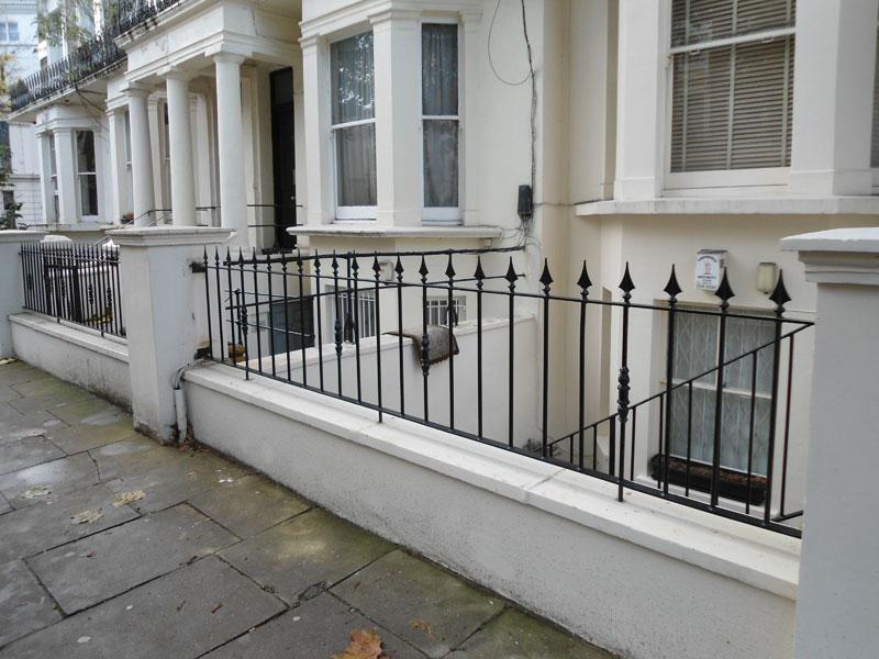 Cast Iron & Steel Railings in Warwick Avenue, Maida Vale, London W9