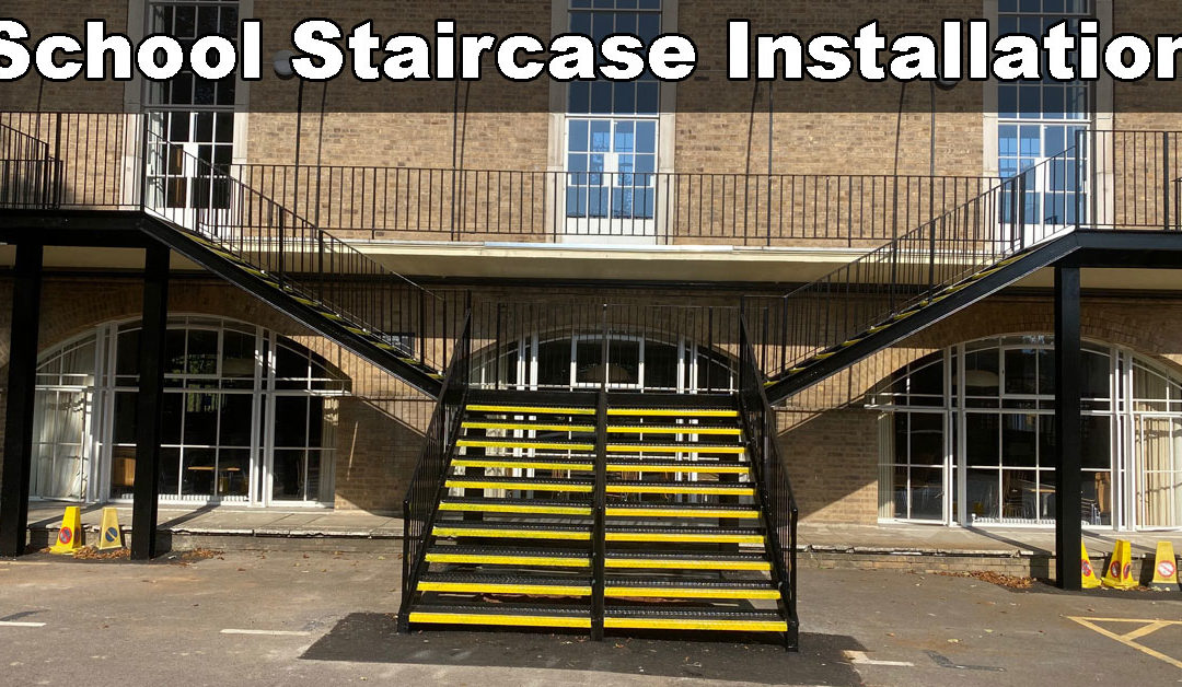 Outdoor Access Staircase For North London Collegiate School In Stanmore