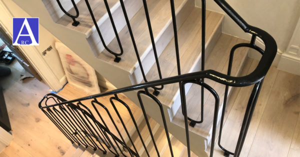 Bespoke Steel Balustrade Railings Installed in Harley Gardens, Kensington & Chelsea, London SW10