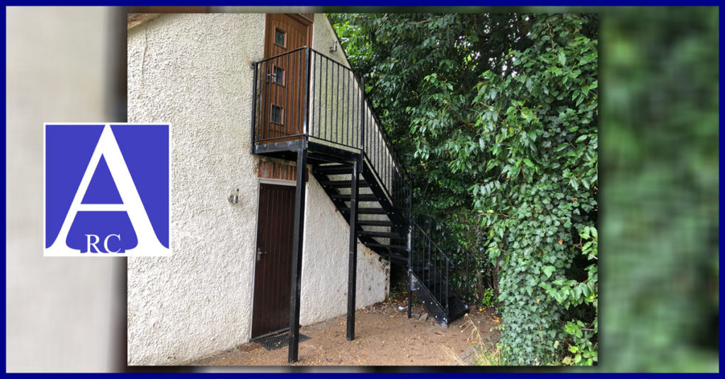 Outside Steel Staircase Fabrication in St Albans Hertfordshire