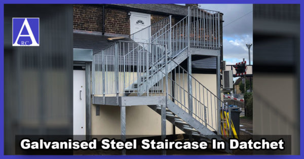 Galvanised Steel Outdoor Staircase Installation in Datchet, Berkshire