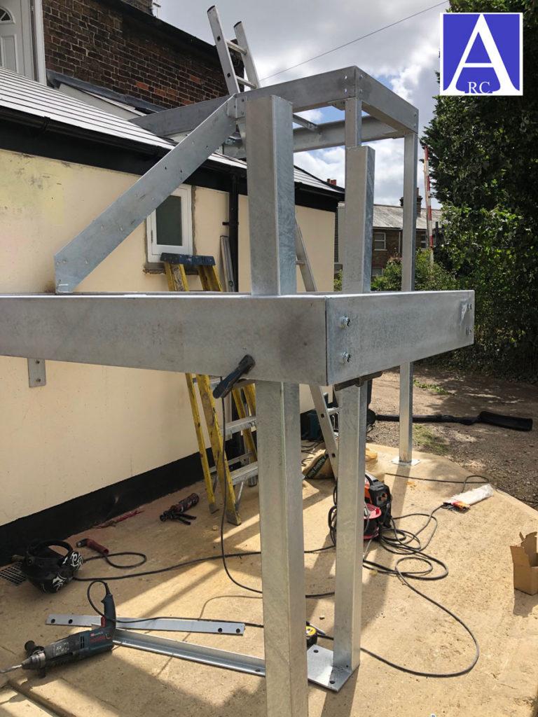 Outdoor Galvanised Steel Staircase Berkshire