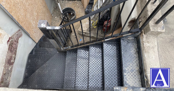 Steel Staircase Installation in The Angel, Islington, London N1